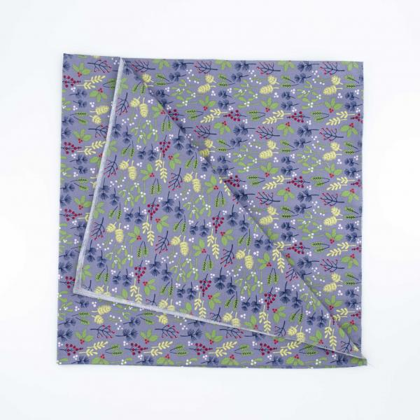 Furoshiki Fabric Wrap Grey Holly