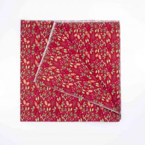 Furoshiki Fabric Wrap Red Holly